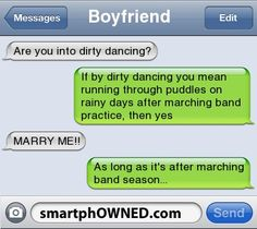 As long as it's after marching band season...