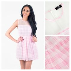 Todays Fashion Fix: Pink Gingham Dress. Pink Gingham, Gingham Dress, Love Clothing, Dress P, Cold Shoulder Dress, Womens Fashion, Clothes, Outfits, Clothing