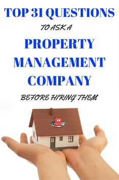 questions to ask property management