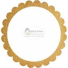 KATIA ARTES - BLOG DE LETRAS PERSONALIZADAS E ALGUMAS COISINHAS: Bordas Boleada com glitter