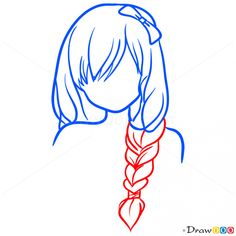 Drawing Hairstyles Easy Lesson, Step by Step Drawing