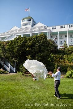 Mackinac Island Wedding Photo Grand Hotel