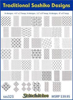 Traditional Sashiko Designs Custom Embroidery Designs By Stitchitize