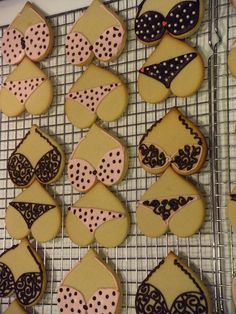 Lingerie cookies - so cute!!
