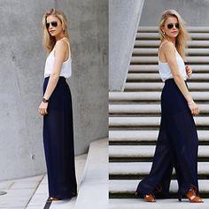 Caro Daur - Zara Shoes, Mango Pants, Topshop Top, Ray Ban Sunglasses - Palazzopants!