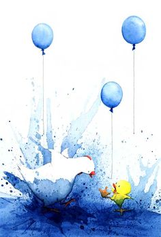 Blue Chicken by Deborah Freedman!!