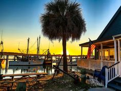 beaufort, south carolina | Beaufort S.C.'s downtown marina at sunset. It was proclaimed the ...