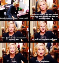 Leslie Knope -- Parks and Recreation. So sweet! Best Tv Shows, Best Shows Ever, Movies And Tv Shows, Favorite Tv Shows, Parks And Recs, Parks Department, Parks And Recreation, Music Tv, So Little Time