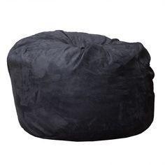 Bean Bag Chair Color: Black - http://delanico.com/bean-bag-chairs/bean-bag-chair-color-black-640514742/
