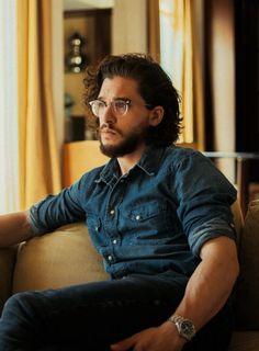 Kit Harington + glasses.