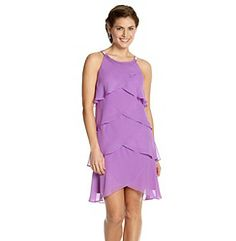 Chiffon Jeweled Tiered Dress #purple Get 4% Cash Back http://www.studentrate.com/itp/get-itp-student-deals/Bon-Ton-Student-Discounts--/0