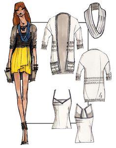 Fashion Sketch Donhauser by Catie Donhauser, via Flickr