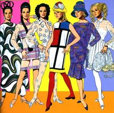 Great Fashion Designs of The Sixties by Tom Tierney. ( he does elaborate paper doll books of different fashion eras.)