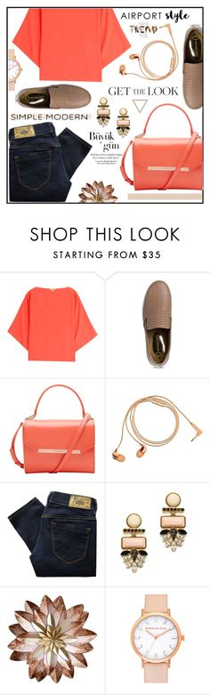"""""""Airoport Style"""" by misskarolina ❤ liked on Polyvore featuring Michael Kors, Ted Baker, Happy Plugs, Diesel, Lizzie Fortunato, Supra, GetTheLook and airportstyle"""
