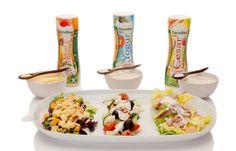¡Ensaladas diferentes cada día con las salsas césar, miel y mostaza o yogur #MarcaCarrefour! Perfectas para aportar ese toque de sabor y personalidad a tus ensaladas. Yogurt, Salads, Self Branding, Personality