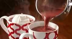 Red Velvet Hot Chocolate: Get cozy with a mug of this rich red velvet-tinted hot chocolate. Serve with a decadent dollop of Vanilla Whipped Cream, if desired.