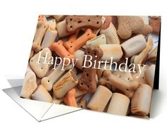 dog biscuits card