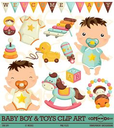 50% OFF !! Baby Boy Cute Clipart / Toys Digital Clip Art for Commercial and Personal Use / INSTANT DOWNLOAD by comodo777 on Etsy https://www.etsy.com/uk/listing/230326402/50-off-baby-boy-cute-clipart-toys