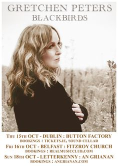 Tues 15 Oct - Martina McBride @ Button Factory Gretchen Peters, Button Factory, Martina Mcbride, Buttons, Poster, Billboard, Plugs