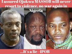 I guaranteed Ojukwu MASSOB will never turn to violence and that there would be no war again in Nigeria   MASSOB has gone past walking in the city to political moves   I set up Radio Biafra utilized Kanu to run it however government officials commandeered him and the Radio is presently being utilized to extort me and spread detest messages   It's a lie IPOB  By Vincent Ujumadu  Boss Ralph Uwazurike the originator of the Movement for the Actualization of Sovereign State of Biafra MASSOB is…
