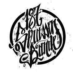 187 strassenbande Logo Hoodie Gris//Noir