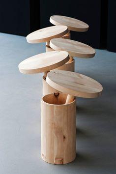 Melk-i by Georg Muehlmann. Le tabouret de santé détend la colonne vertébrale et renforce le dos et les muscles des jambes. Les huiles essentielles et les résines de pin améliorent le bien-être. Winner of red dot design award: product design 2013, OpenDesignItalia 2013, Design Award Tirol 2011. #tabouret #stool