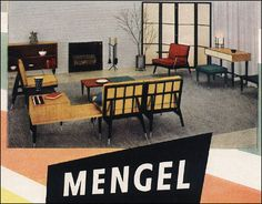 Raymond Loewy - Mengel Modern Raymond Loewy, Outdoor Furniture Sets, Outdoor Decor, Industrial Design, Mid-century Modern, Mid Century, Coca Cola, Interior, Architects