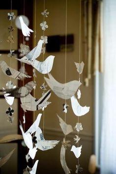 39 trendy Ideas for origami bird garland diy paper Diy For Kids, Crafts For Kids, Arts And Crafts, Paper Birds, Paper Flowers, Paper Art, Paper Crafts, Diy Crafts, Diy Paper