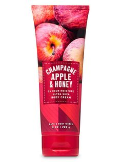 Champagne Apple Honey Ultra Shea Body Cream by Bath & Body Works Bath Body Works, Pink Lady Apples, Cream Baths, Ultra Shea Body Cream, Fragrance Mist, Smell Good, Body Wash, Body Lotion, Champagne