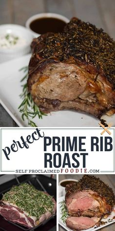 This holiday season, serve your friends and family a Perfect Prime Rib Roast for dinner. Its an elegant yet easy to make main dish. recipes for dinner main dishes Perfect Prime Rib Roast Recipe & Cooking Tips Beef Rib Roast, Roast Beef Recipes, Rib Recipes, Cooking Recipes, Cooking Tips, Prime Rib Oven Roast, Standing Rib Roast Recipe Oven, Cooking Food, Prime Rib Marinade