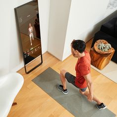 Take unlimited live and on-demand classes with the first nearly invisible, interactive home gym. Try MIRROR Today! Home Gym Mirrors, Fitness Tips, Health Fitness, Home Themes, Publisher Clearing House, Wellness Spa, At Home Gym, Home Hacks, Workout Challenge