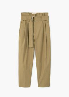 High-waist trousers | MANGO