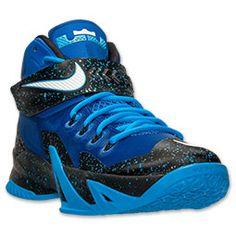 Men's Nike Zoom LeBron Soldier 8 Premium Basketball Shoes| Finish Line | Game Royal/White/Blue Hero