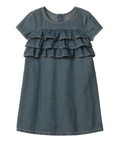 Hamma Andersson - Vintage Light Chambray Ruffle Dress - Infant, Toddler & Girls