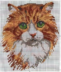 Photo from album on Yandex. Cat Cross Stitches, Cross Stitch Charts, Counted Cross Stitch Patterns, Cross Stitch Designs, Cross Stitching, Beaded Cross Stitch, Crochet Cross, Cross Stitch Embroidery, Christmas Embroidery Patterns