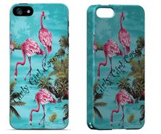 Vintage Cell Phone Case. Vintage Flamingo.   I Phone 4, I Phone 5, Galaxy 3, Galaxy 4