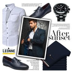 """""""After sunset Leonne Style"""" by helenevlacho ❤ liked on Polyvore featuring men's fashion and menswear"""