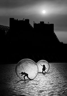 """""""Games in a bubble"""" by Juan Luis Duran. ° https://www.pinterest.com/bwforever/cool-black-white/"""