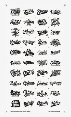 Recent selected types and images in B/W by Oleg Gontarev, via Behance Typography Letters, Typography Logo, Lettering Design, Branding Design, Type Design, Graphic Design, Hand Drawn Type, Letter Logo, Logo Design Inspiration