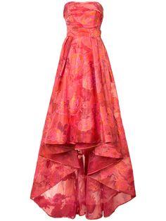 Shop Marchesa Notte floral jacquard gown.