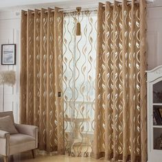 Tips and ideas on interior decoration. And also discover the best curtain designs for simple rooms … rnrnSource by marybrale Cute Curtains, Elegant Curtains, Modern Curtains, Colorful Curtains, Hanging Curtains, Curtains With Blinds, Interior Design Living Room, Living Room Designs, Design Interior