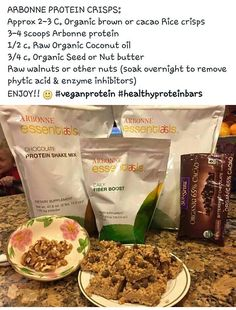 Uses Arbonne protein mix. Shop at: luzmariahere. Uses Arbonne protein mix. Shop at: luzmariaheredia. Arbonne 30 Day Challenge, Arbonne 30 Day Detox, Arbonne Cleanse, Healthy Protein Bars, Arbonne Protein Bars, Protein Shop, Protein Mix, Healthy Living Recipes, Healthy Desserts