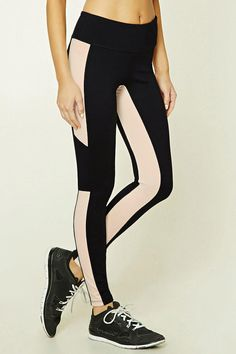 Active Contrast-Paneled Leggings from Forever 21. Shop more products from Forever 21 on Wanelo.