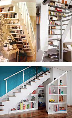Aproveitamento de espaço em baixo das escadas