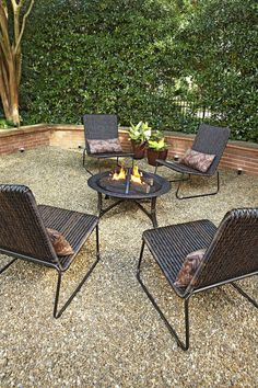 Garden Treasures 35-in W Black/High Temperature Painted Steel Wood-Burning Fire Pit at Lowes.com & 16 Best patio walls images | Patio wall Backyard patio Balcony