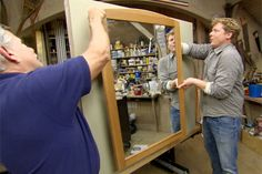 This Old House general contractor Tom Silva shares tips and techniques for safely hanging framed objects on walls. | thisoldhouse.com