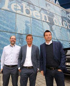 Markus Weinzier and Schalke's manager Christian Heidel