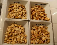 Roasted Pumpkin Seeds recipe - pumpkin carving party
