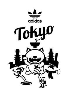 Adidas Showroom opening event by Tommaso Taraschi, via Behance