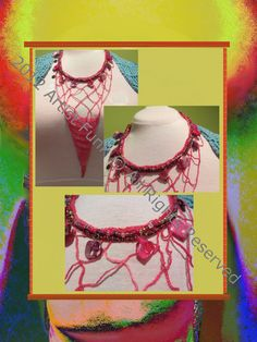 Funky Handmade ScarvesColorful Beaded Necklace by ArtisticFunk, $20.00